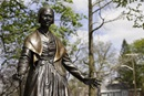 Sojourner Truth became a Methodist in 1843 and, on June 1 of that year, heard a clear call from God to become a traveling preacher speaking out against slavery. The Sojourner Truth Memorial in Florence, Mass. Photo by Lynn Graves, Massachusetts Office of Tourism.