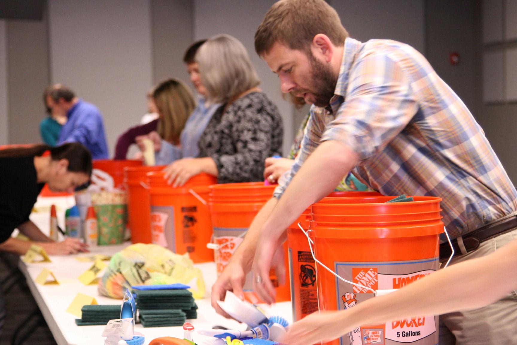 Flood buckets for Houston