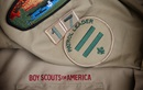 Detail of the sleeve of a Boy Scout uniform. Photo by Mike DuBose, United Methodist News Service.