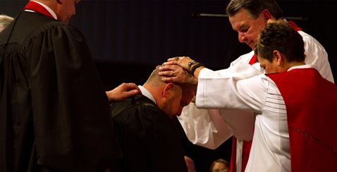 At ordination, United Methodist clergy are prayed over, empowered by the Holy Spirit, and authorized by the church for their life and work. Photo by Emily Green, Indiana Conference.