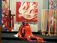 A Pentecost-themed altar design for Fellowship Convo 2009 by artist and pastor, the Rev. Todd Pick. Courtesy photo from Pick's website, www.wordmadeimage.com.