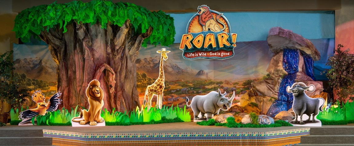 Promo image for Roar! Life is Wild, God is Good VBS curriculum. Courtesy of Group Publishing, Inc. 2019