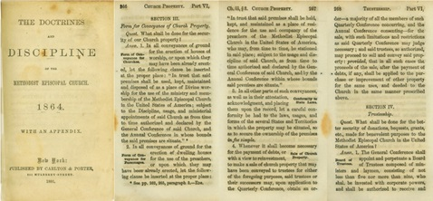 "Pages from ""The Doctrines and Disciplines of the Methodist Episcopal Church 1864."" Courtesy of GCAH."