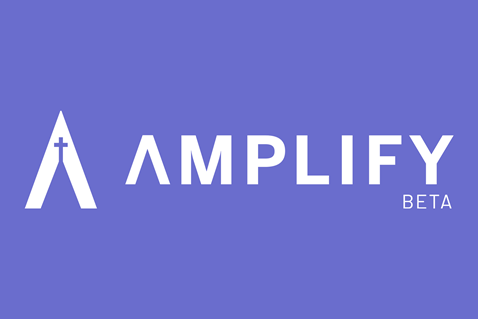 Amplify is a multimedia platform allowing churches large and small to discover, customize and share diverse resources that encourage deeper discipleship and equip churches to pursue their mission with greater impact. Logo courtesy of the United Methodist Publishing House.