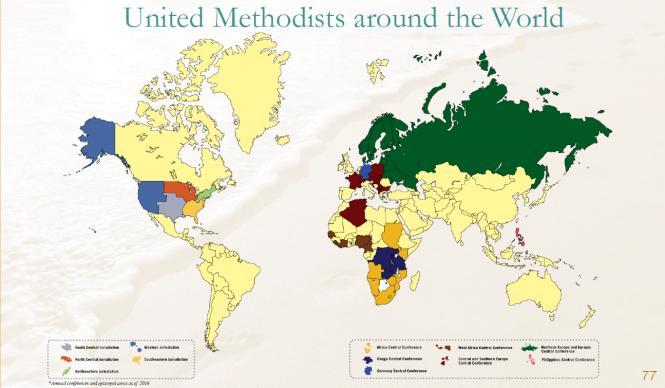 United Methodists Around the World - Delegate Distribution