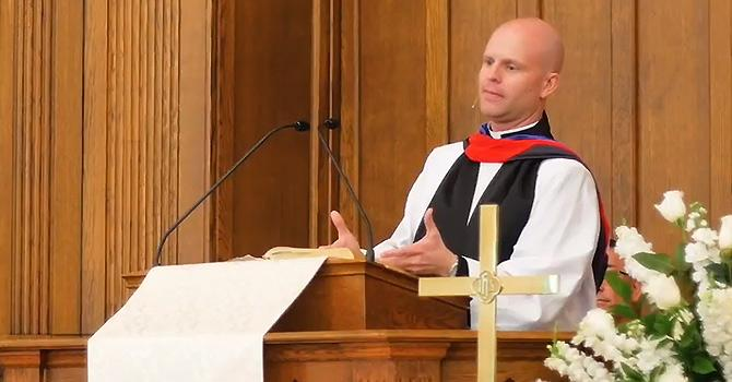 The Rev. Nathan Kirkpatrick preaches at Broad Street United Methodist Church in Statesville, North Carolina. Courtesy of Faith & Leadership.