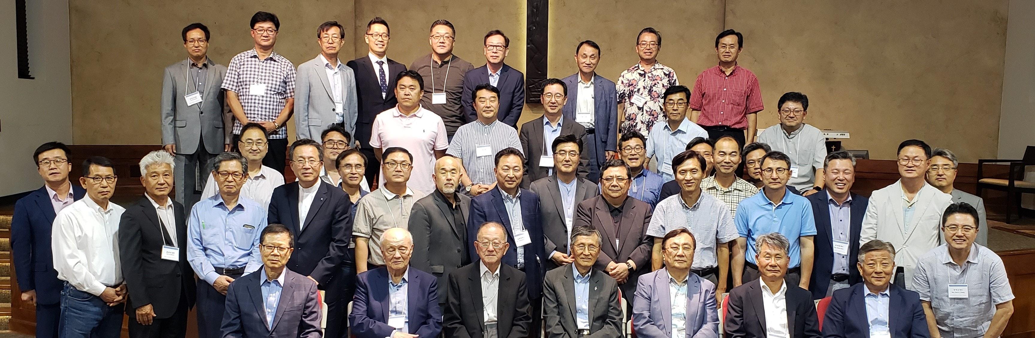 8월 26-28일 텍사스주 달라스 중앙연합감리교회에서 열린 상임위원회에 참석자들. 사진제공 한인교회총회.