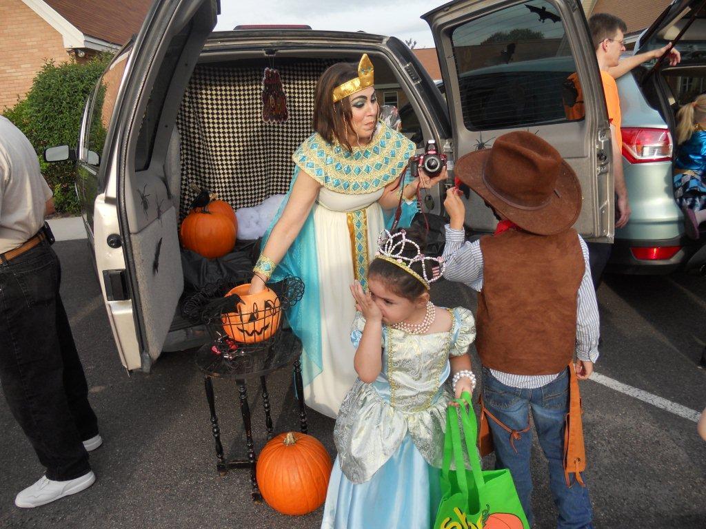 Trinity United Methodist Church in Aiken, South Carolina, celebrates Halloween with a trunk-or-treat event. Photo courtesy of Trinity United Methodist Church.