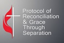 """A diverse, 16-member group of United Methodist bishops and other leaders offered a proposal that would preserve The United Methodist Church while allowing traditionalist-minded congregations to form a new denomination. The nine-page """"Protocol of Reconciliation & Grace Through Separation"""" was released Jan. 3. Graphic by Laurens Glass, UM News."""