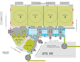 Map of the main floor of the Minneapolis Convention Center, showing the main locations where General Conference 2020 will be held. Courtesy of the Minneapolis Convention Center.