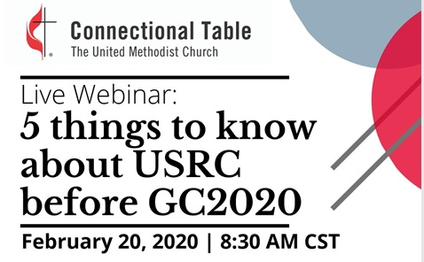 Connectional Table offers live webinar on U.S. Regional Conference legislation. Flyer courtesy of the Connectional Table.