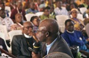 The Rev. Jerry Kulah presents a resolution calling for changes to the Protocol of Reconciliation & Grace through Separation during the Liberia Annual Conference in mid-February. The Africa Initiative, an advocacy group where Kulah serves as general coordinator, announced Feb. 27 it is endorsing the protocol legislation. File photo by E Julu Swen, UM News.