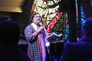 """The Rev. Alka Lyall speaks during March 6 opening worship of the """"Trailblazing the Liberation Methodist Church"""" event, held at Dallas' Preston Hollow United Methodist Church and put on by the advocacy group UM-Forward. Photo by Sam Hodges, UM News."""